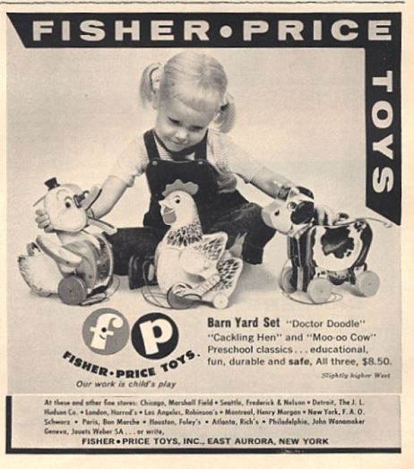 fisher price advert 1950s