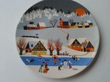 Ebay Poole Christmas plate via poshpedlar