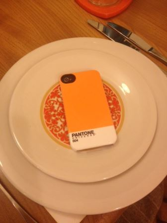 pantone orange phone cover