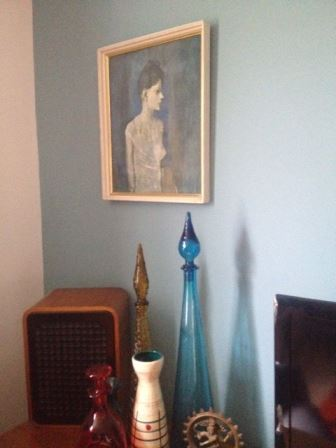 our vintage home Picasso 70s print