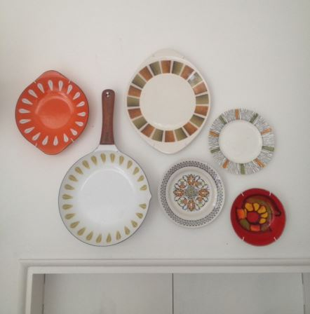 our vintage home kitchen plates on wall