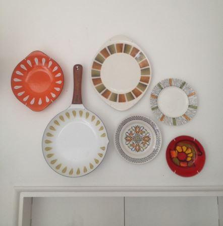 vintage platess on wall