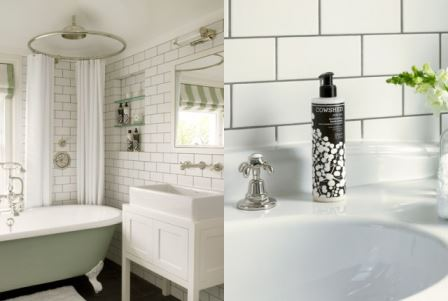 Vintage Styling Tips Showering with Style - shower over a roll top bath via Your Vintage Life by Kate Beavis