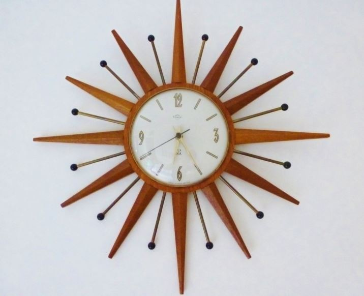 retro vintage starburst clock as featured on Kate Beavis Vintage Home blog