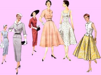 1950s vintage fashion as featured on Kate Beavis blog