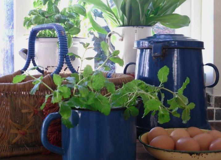 enamel vintage kitchen ware from kate Beavis