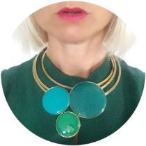 Danish enamel 1960s style choker on Kate Beavis vintage home blog