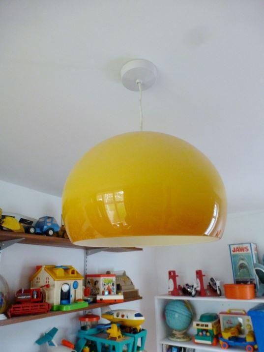 yellow 1960s light vintage retro mid century as seen on Kate Beavis Home blog