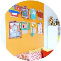 Vintage orange kids playroom