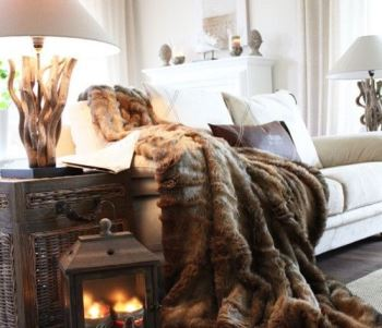 Vintage Styling Tips - autumn cosiness -fur throws via Your Vintage Life by Kate Beavis