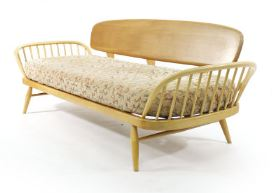 A183A386A263Mid century vintage Ercol day bed at W&H Peacocks by Kate Beavis