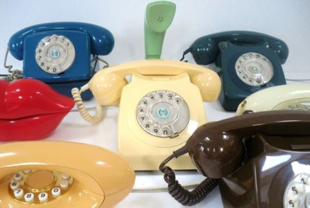 vintage retro telephone by Kate Beavis