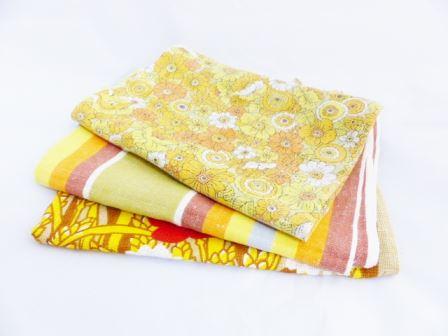Vintage tea towels by Kate Beavis