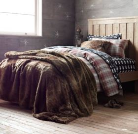 Vintage Styling Tips - Beat the January Blues... - faux fur throws on beds via Your Vintage Life by Kate Beavis