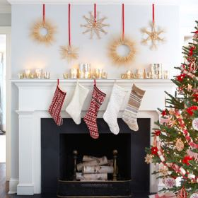 Vintage Styling Tips -christmas decorations - stockings via Your Vintage Life by Kate Beavis