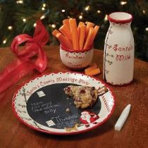 Vintage Styling Tips -'twas the night before christmas - santas plate via Your Vintage Life by Kate Beavis