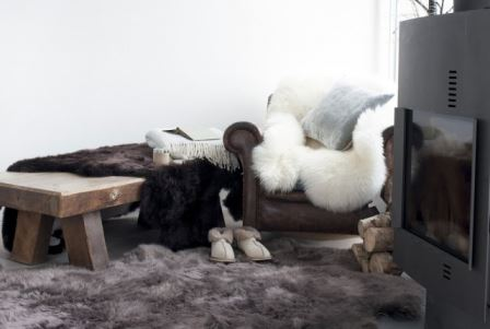 Warm up your home this January - sheepskin and hide rugs via Your Vintage Life by Kate Beavis