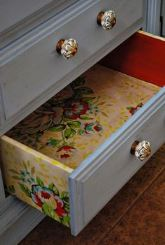 vintage wallpaper chest of drawers from Kate Beavis 2