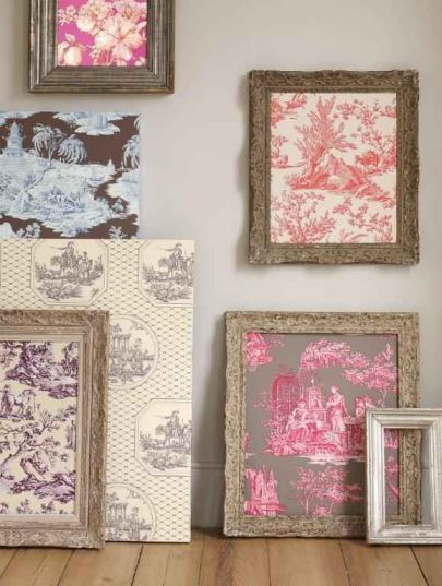 vintage wallpaper ideas framed pictures from Kate Beavis