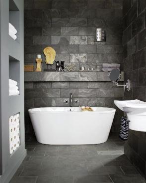 Grey bathroom interior design ideas from Kate Beavis