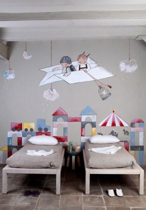 Grey childrens room interior design ideas from Kate Beavis