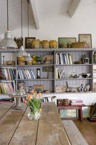 Grey shelving interior design ideas from Kate Beavis