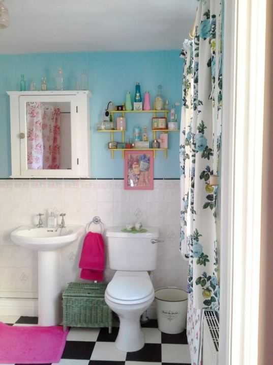 Sarah Maguire's Vintage Eclectic Retro Upcucled Home shared by Kate Beavis