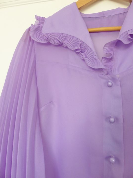 1970s vintage pleated blouse by Kate Beavis