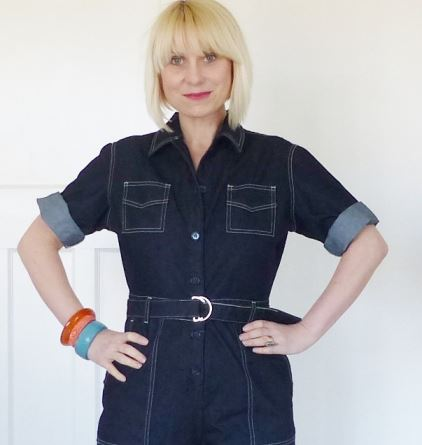 Freddies of Pinewood's Grease Monkey denim junp suit reviewed by Kate Beavis