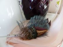 Vintage feather brooch by Kate Beavis
