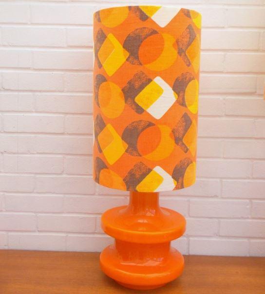 Retro vintage orange light from Pineapple Retro as seen on Kate Beavis Home blog
