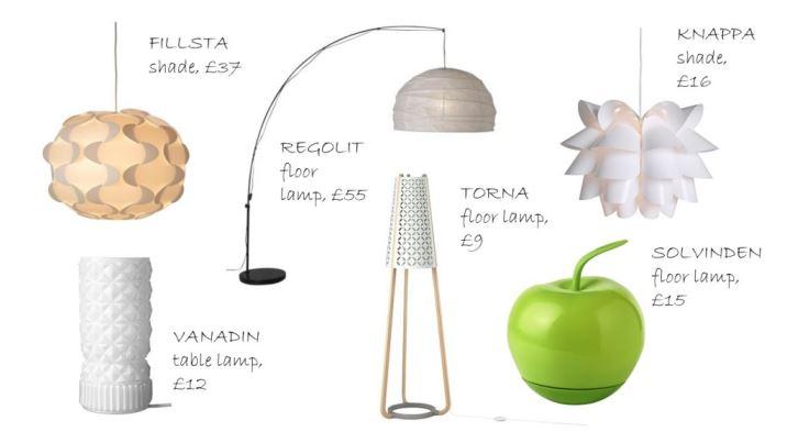 Vintage inspired lighting by Ikea as seen on Kate Beavis Home blog