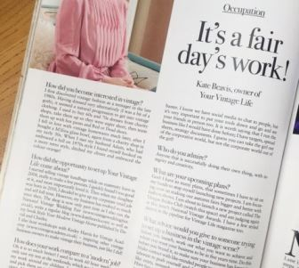 Kate Beavis Vintage Life mag interview