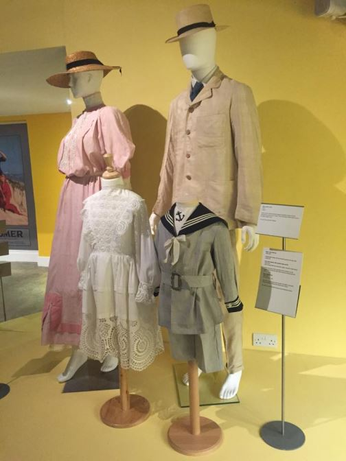 Vintage Edwardian swimwear swimming costumes as featured on Kate Beavis Vintage Blog (from the F&T museum)