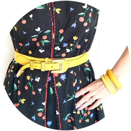 60s dress with 70s80s belt to go daaan the discohellip