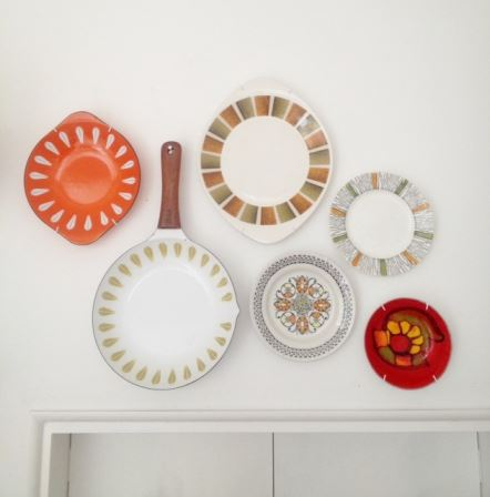 Vintage plates and Cathrineholm as featured in Kate Beavis Vintage Home