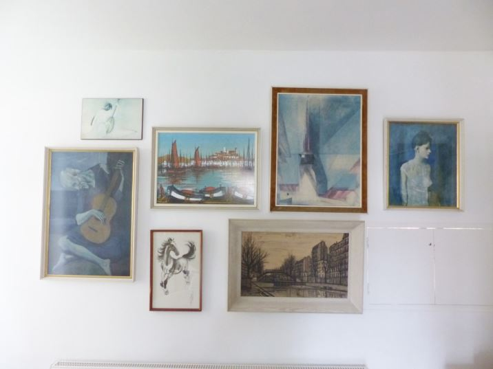 Vintage retro wall art picture collage as seen in Kate Beavis Vintage Home blog