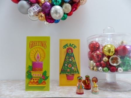 Vintage Christmas cards as seen on Kate Beavis VIntage Home blog