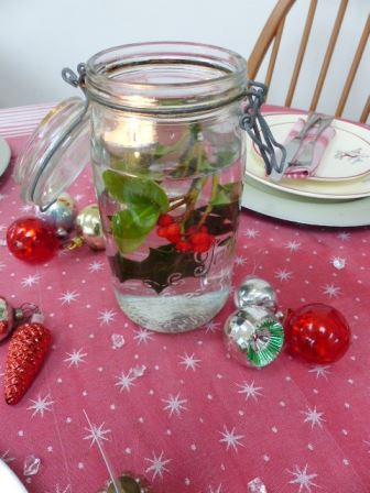 Vintage Christmas styling ideas as seen on Kate Beavis VIntage Home blog