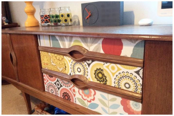 Five Little Diamonds Vintage Home as featured on Kate Beavis Vintage Home blog vintage sideboard