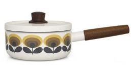 Vintage style Orla Kiely saucepans as featured on Kate Beavis Vintage Home blog 2