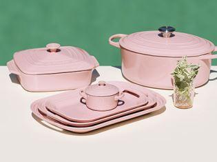 Le Creuset Oasis pastel range as featured on Kate Beavis Vintage Home blog