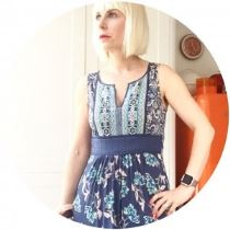 Kate Beavis wears Monsoon boho dress