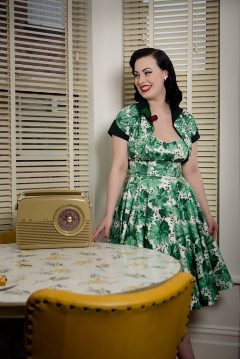 1950s vintage style fashion by House of Foxy as photographed by Mark Newton as featured on Kate Beavis Vintage Home blog (for Festival of Vintage)