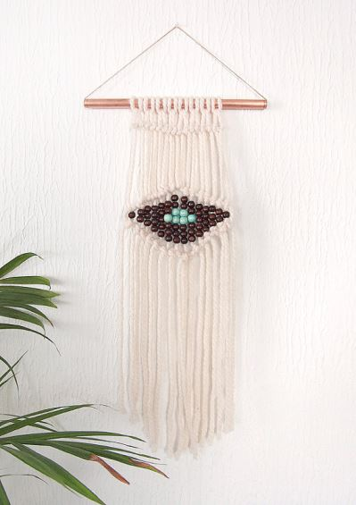 Vintage macrame as featured on Kate Beavis Vintage Home blog