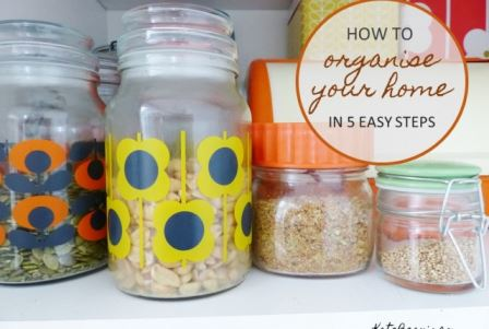 How to organise your home in 5 easy steps by Kate Beavis Vintage Home blog