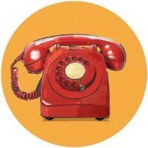vintage GOP rotary dial phone illustration