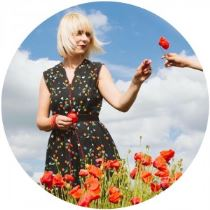 Kate Beavis in the poppy fields