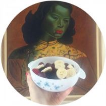 Vintage Pyrex, fruit and Tretchikoff as seen on Kate Beavis VIntage Home blog