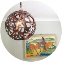 1960s vintage print and copper light on Kate Beavis blog